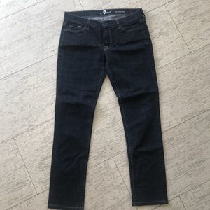 7 for all mankind women's skinny jeans sz30